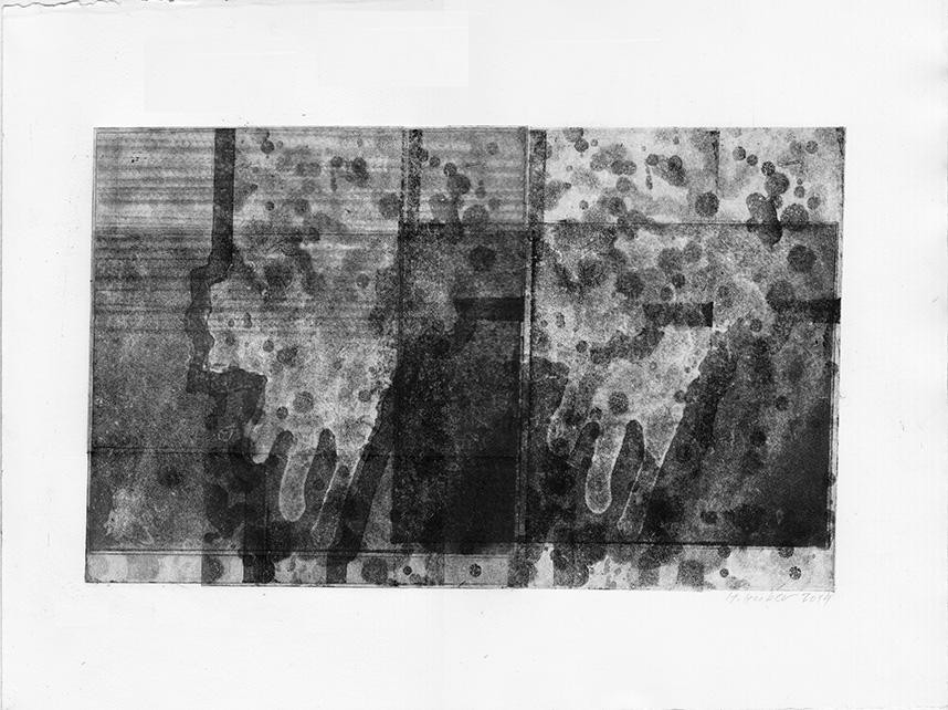 2015 Flecken und Tropfen, 30x17.5 cm